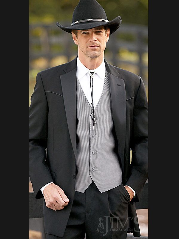 Tuxedo Lariat Western Style 902 by Lord West Tuxes. Two button ...