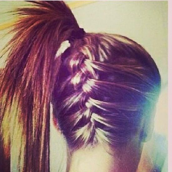 Love This Keeps The Wispies Off Your Neck While Working Out Braids Hairideas Hair Styles French Braid Ponytail Long Hair Styles