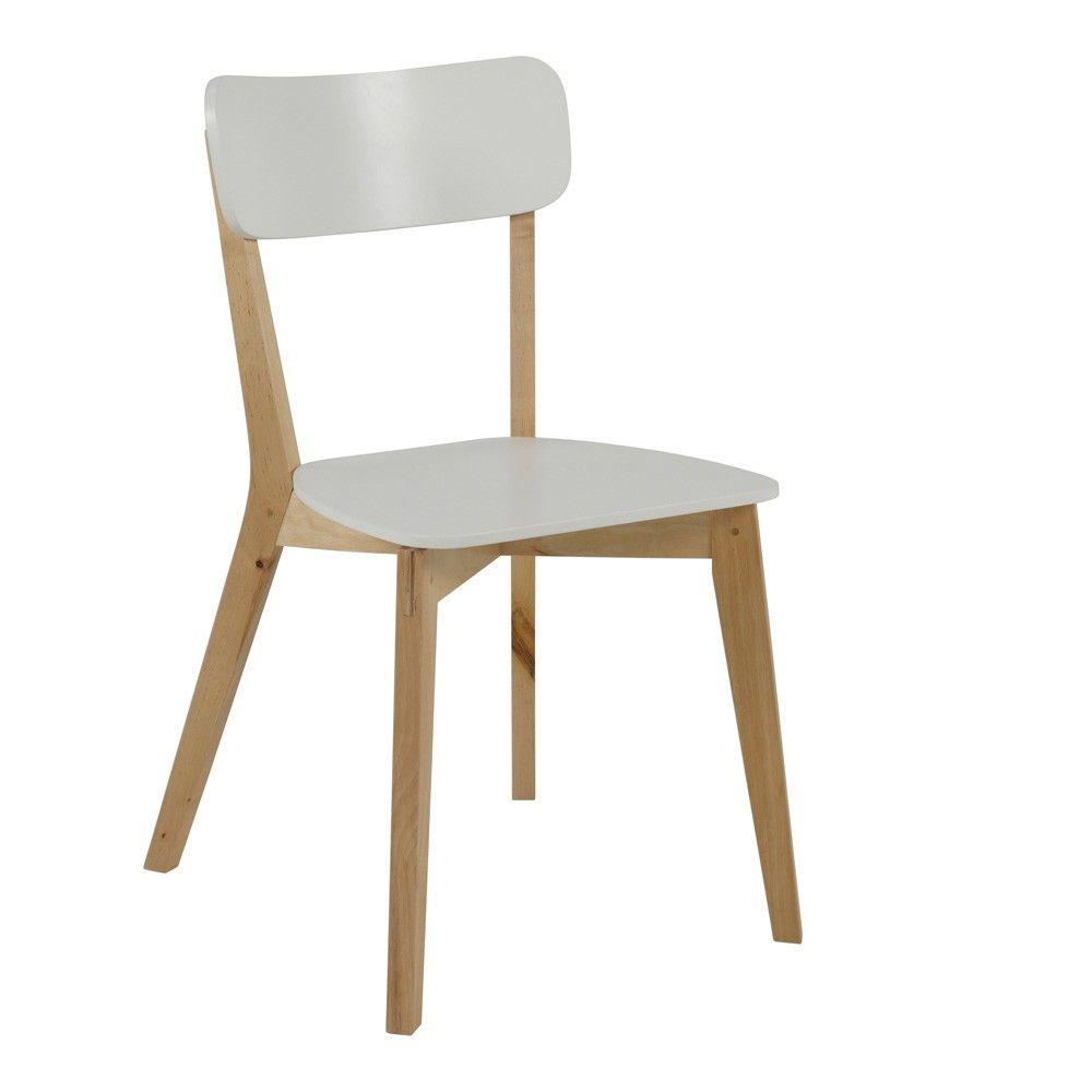 Sedia in stile vintage bianca con struttura in legno di ...