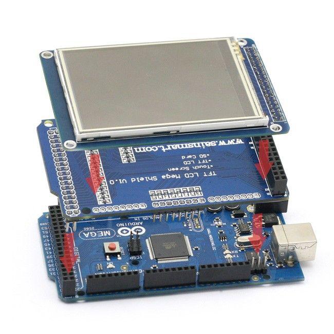 Mega 2560 3 2 Tft Tft Shield Arduino