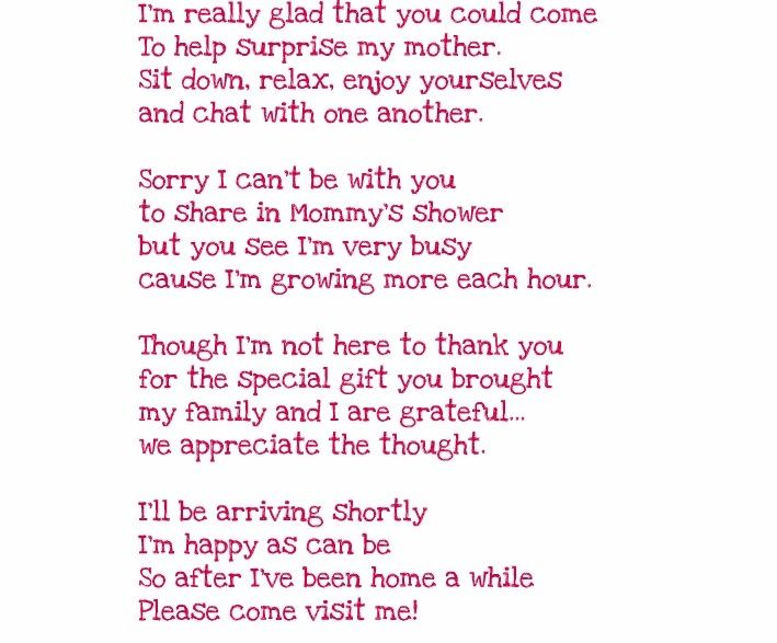 Thank You From Baby Poem   Yahoo Image Search Results