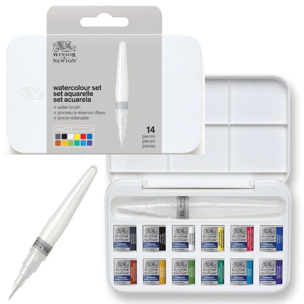 Details About Winsor Newton Cotman Watercolour Brush Pen Set