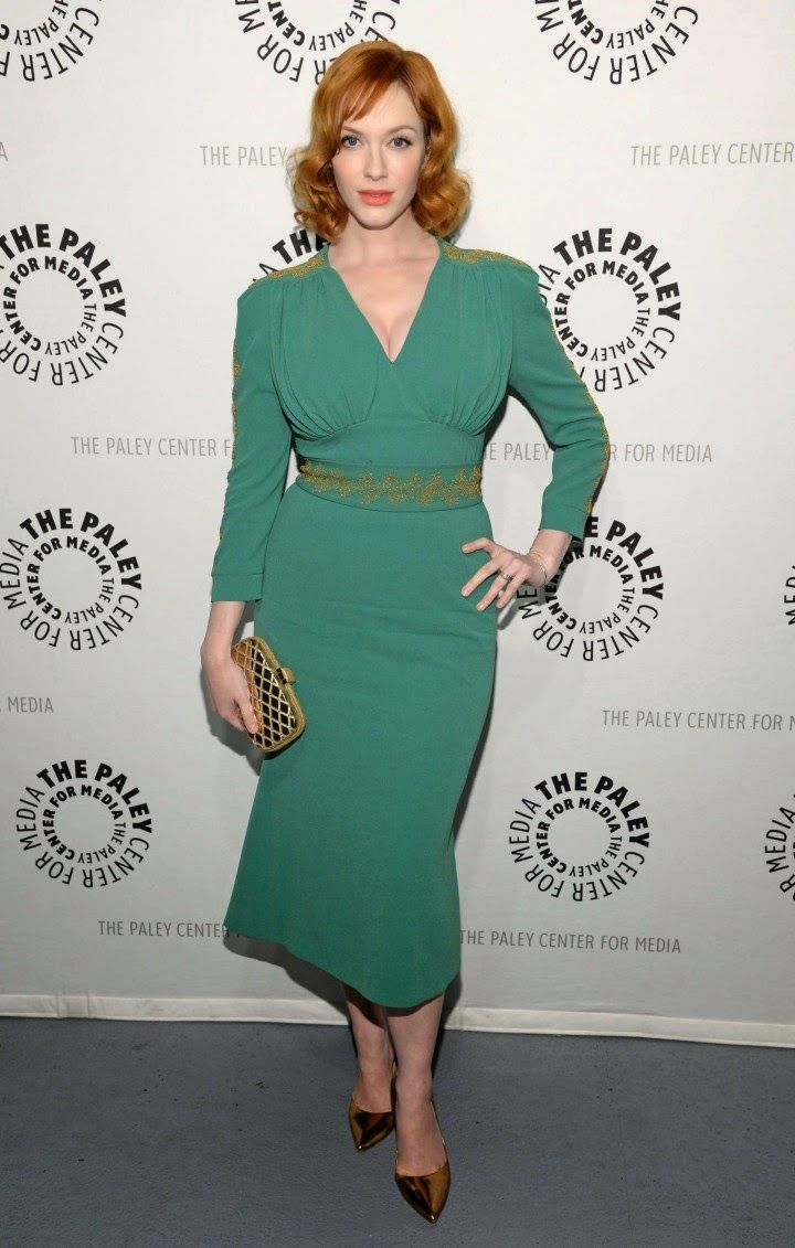 Christina Hendricks shows off curves in a L\'Wren Scott design at the ...