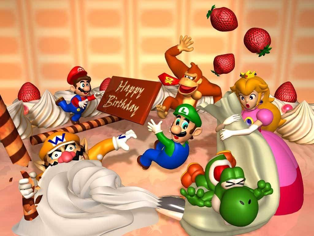 Happy Birthday Fractal Google Search Mario Party Mario