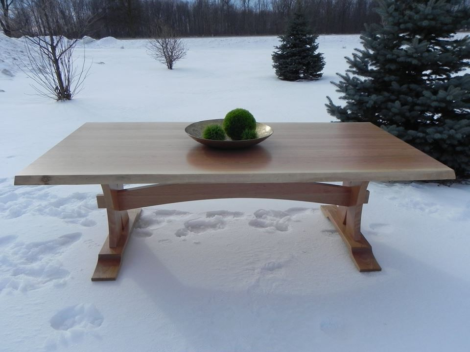 """Our new beauty, the stunning live edge cherry harvest table, measuring 94"""" by 47"""" by 30"""", all made from local wood. Dine as royalty would with this beautiful addition to any home. 6800$ plus HST."""