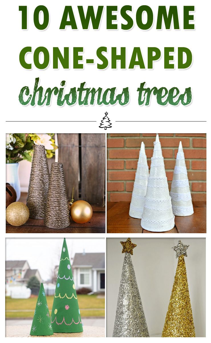 10 Awesome Cone Shaped Christmas Trees Christmas Tree Crafts