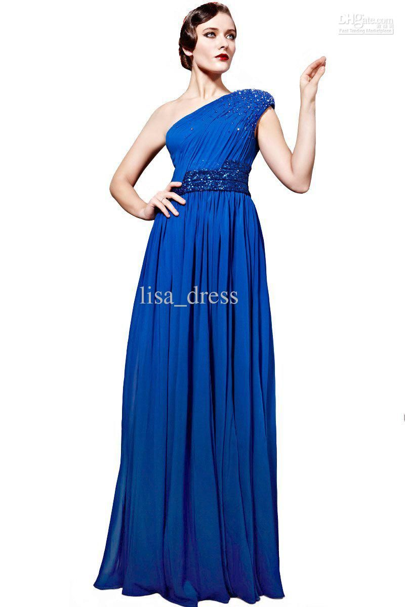 Elegant royal blue evening dresses prom dresses party dresses column