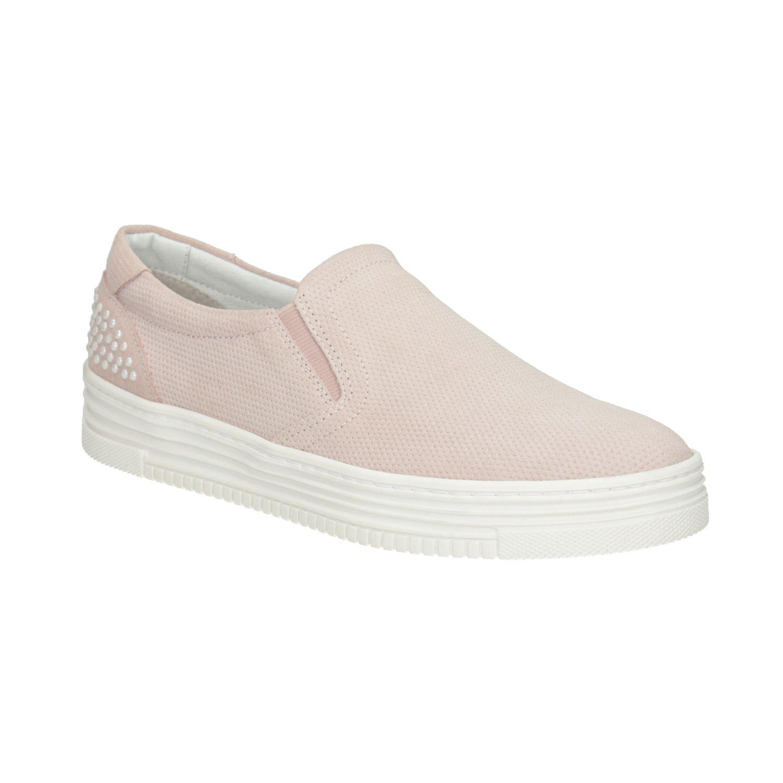 Dámská kožená Slip-on obuv Baťa - Slip - on  1baf81b377