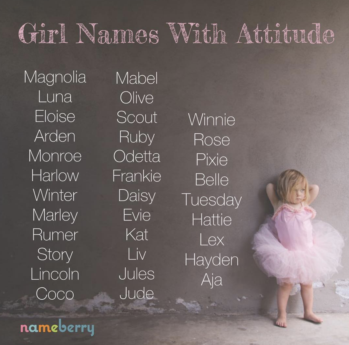 Girl Names with Attitude #babygirlnames