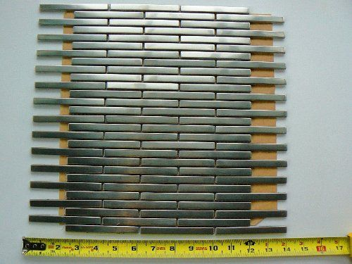 amazon  stainless steel strip wall mosaic tiles or