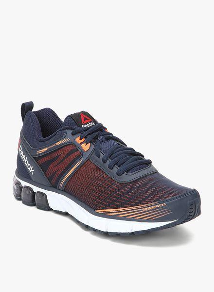 Reebok Jet Dashride 2.0 Navy Blue Running Shoes On LooksGud.in  #Reebok, #Black, # RunningsShoes