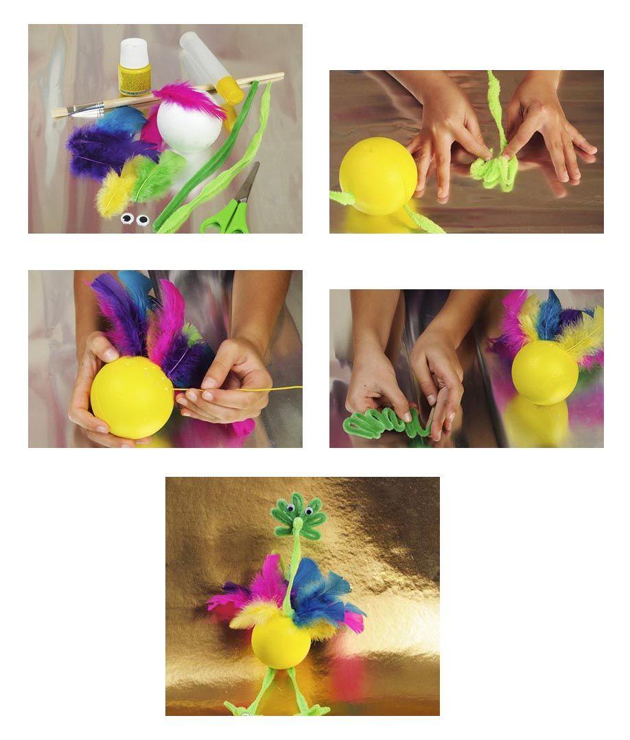 Как сделать страус своими руками фото 372