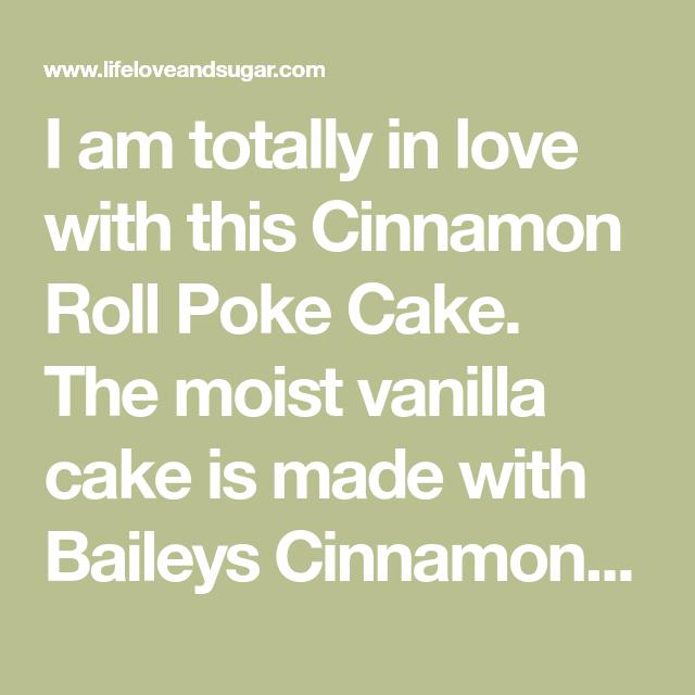 Cinnamon Roll Poke Cake   Moist & Delicious Cinnamon Cake Recipe