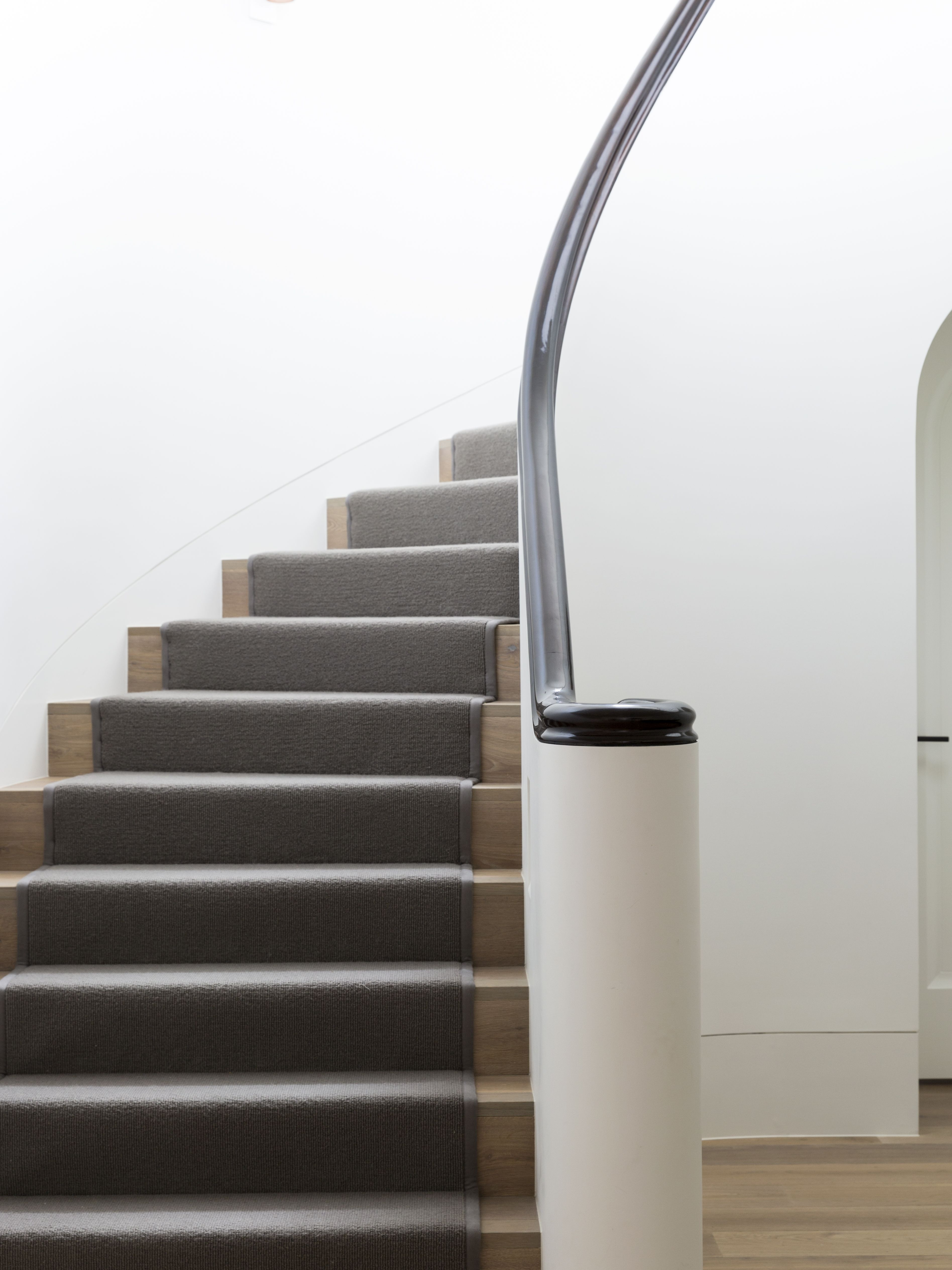 Feature - Stairs - Staircase - Plaster Walls - Curved