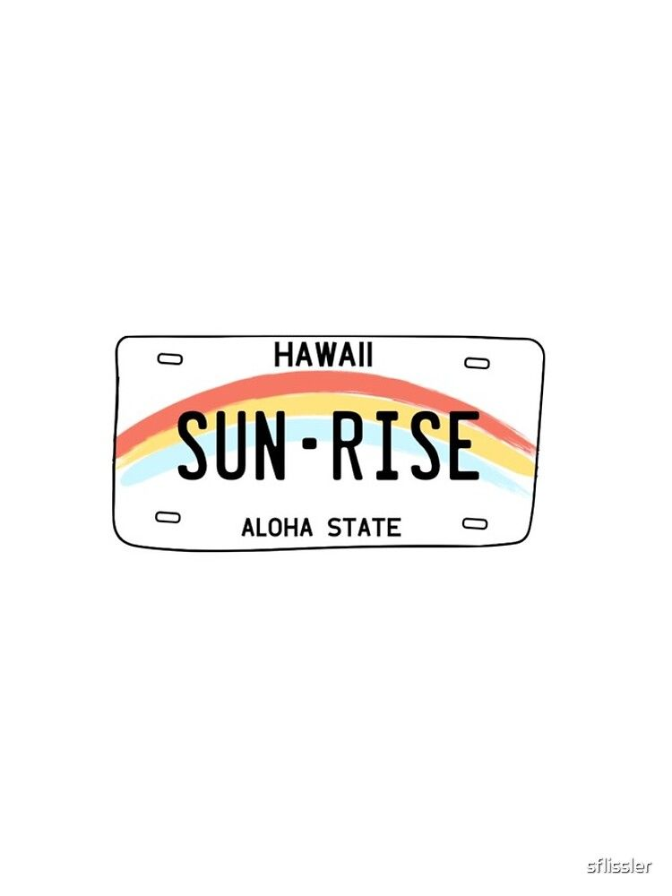 'Hawaii Sun Rise License Plate' iPhone Case by sflissler