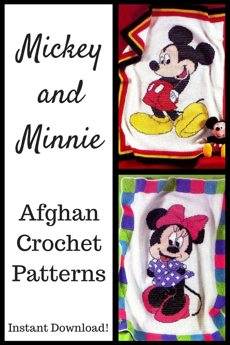 Disney\'s Mickey Mouse and Minnie Mouse Afghan Crochet Pattern ...