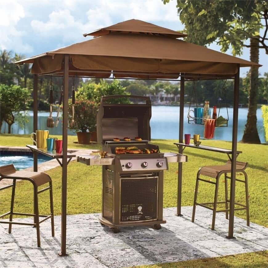 Better Homes And Gardens Lauderdale Curved Hardtop Grill Gazebo