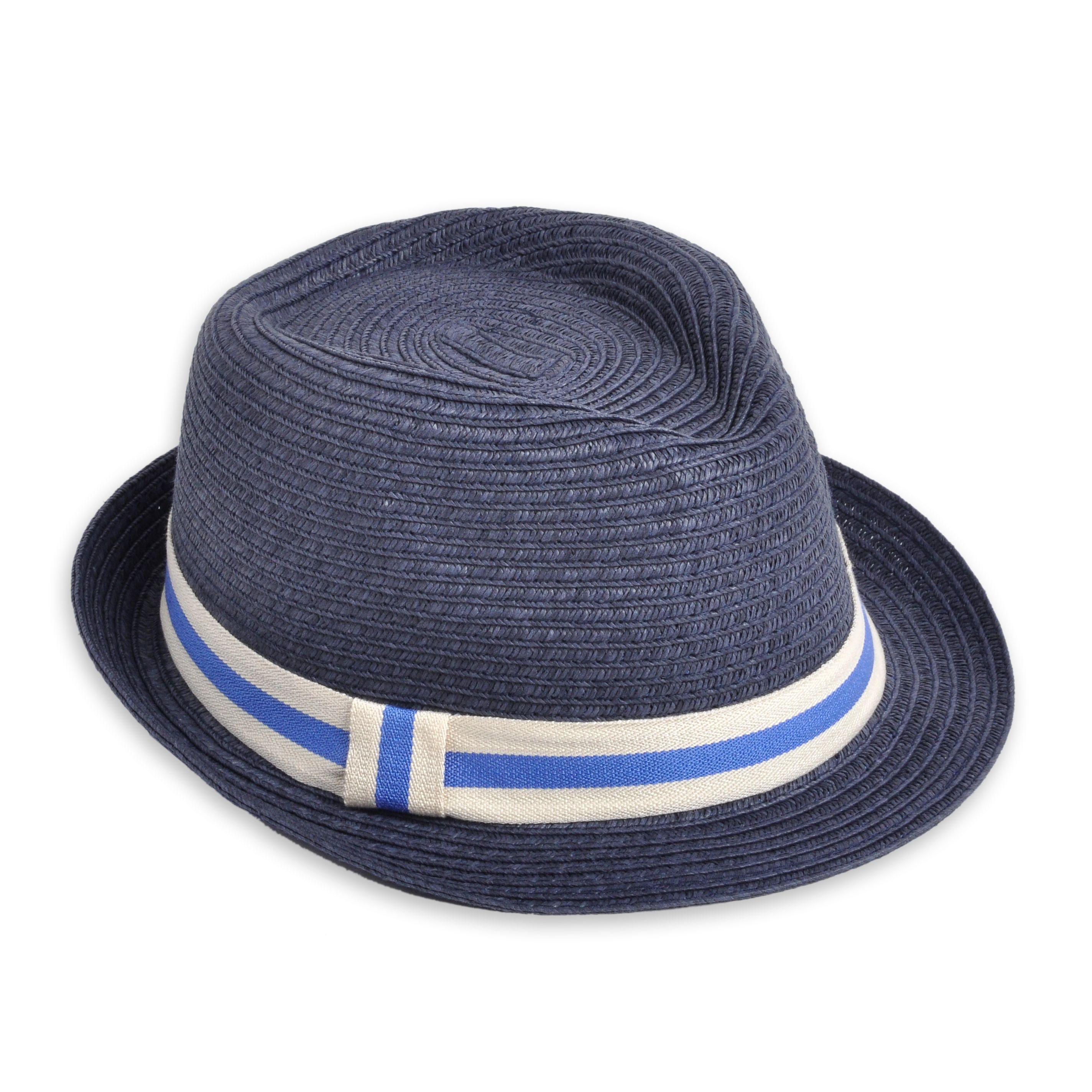Sombrero EPK para niño de color azul marino con cinta de color azul claro y  blanco. 7769665a96a