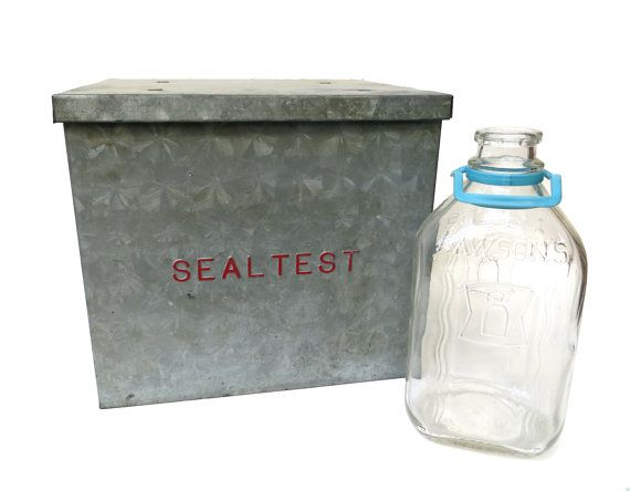 Pin By Kasha Legeza On Fab Vintage Decor Household Stuffs Sealtest Dairy Galvanized Metal Milk Bottle