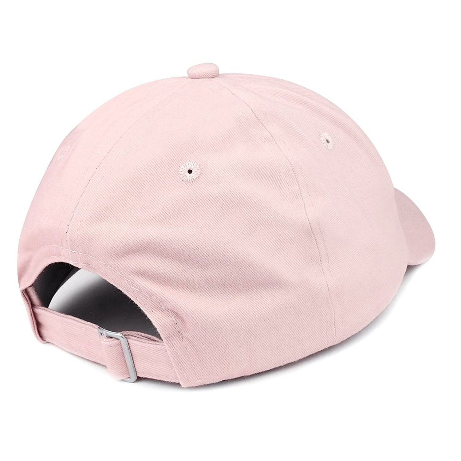 7677db6333873 WTF America Embroidered 100% Quality Brushed Cotton Baseball Cap - Light  Pink - C9185HOL5D4  Hats  Baseball Caps
