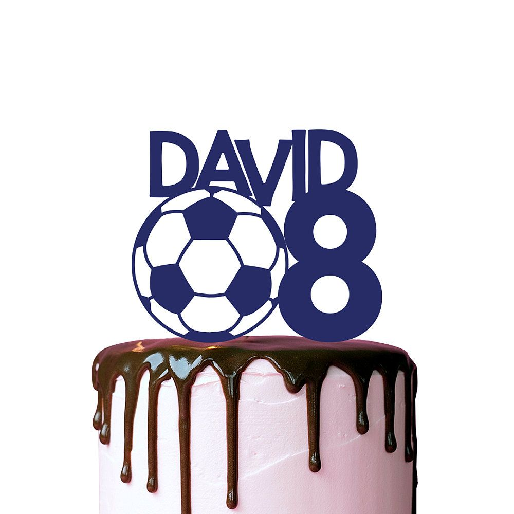 Soccer Cake Topper Name And Age Birthday Cake Topper Sports Etsy Birthday Cake Toppers Soccer Cake Cake Toppers
