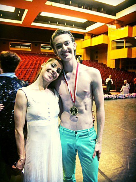 Young American at the Bolshoi: Julian MacKay wins Sochi and Istanbul medals - Judge and gala star Letizia Giuliani congratulated me on the high level of both my Classical and Contemporary