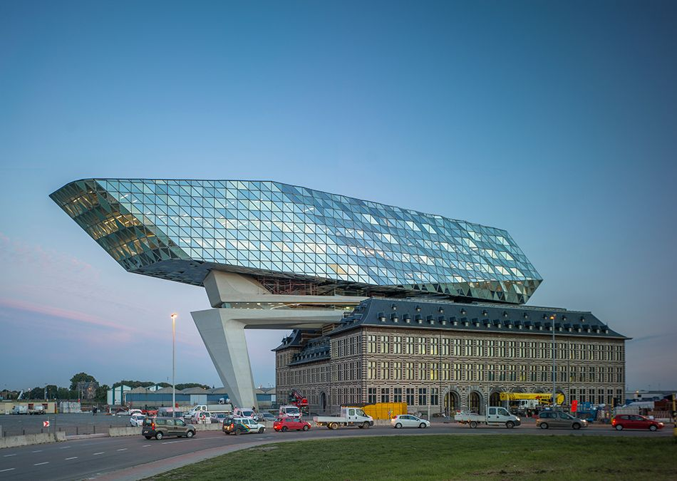 Modern Architecture Zaha Hadid zaha hadid architects antwerp new port house belgium designboom