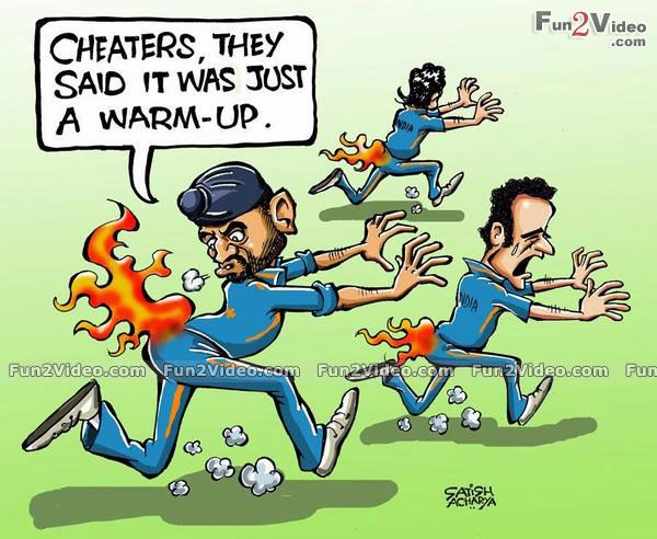 India Cricket Funny Cartoon [ More Funny Pictures http