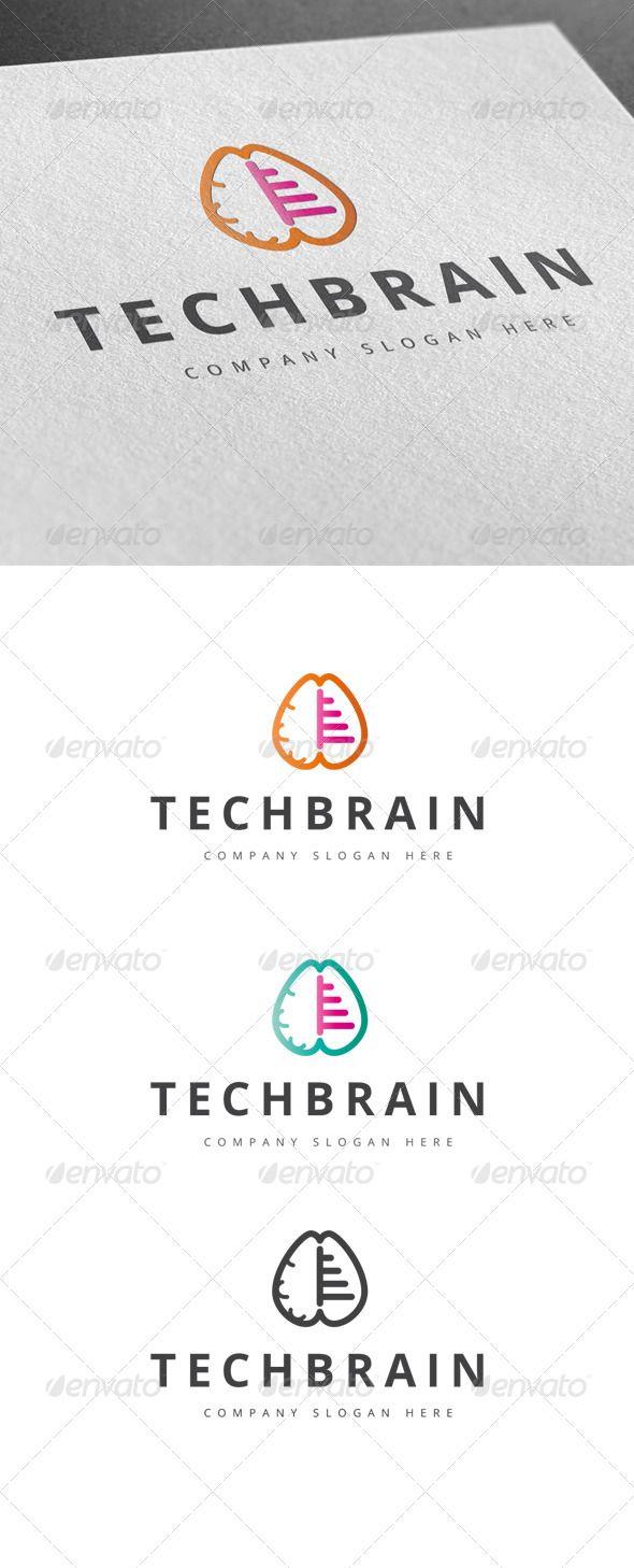 tech brain logo | fonts-logos-icons | pinterest | logos, brain logo