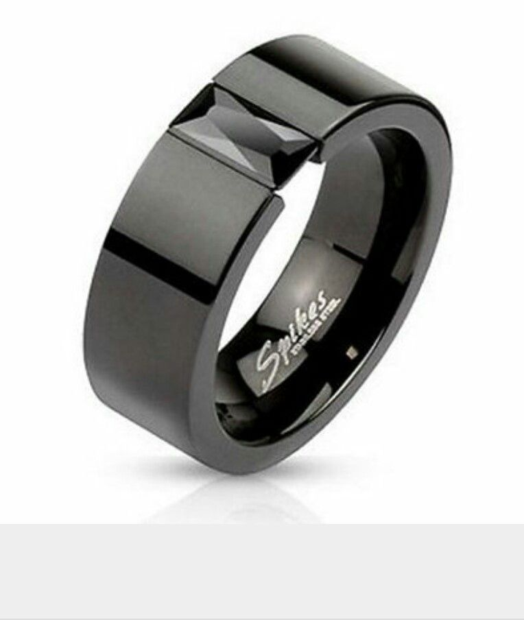 Men S Onyx Wedding Band Stainless Steel Wedding Ring Stainless Steel Wedding Bands Black Rings