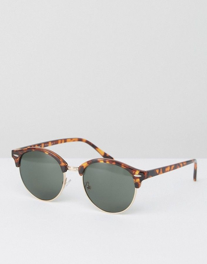 a8bc1289716 A. J. Morgan AJ Morgan Round Sunglasses In Tortoiseshell