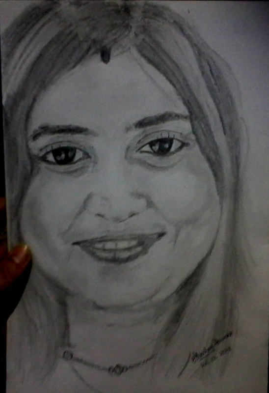 Bangalore girl drawing by artist akshay kumar
