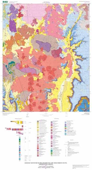 Geologic Map Of Arizona.Geologic Map Of Part Of The Uinkaret Volcanic Field Mohave County