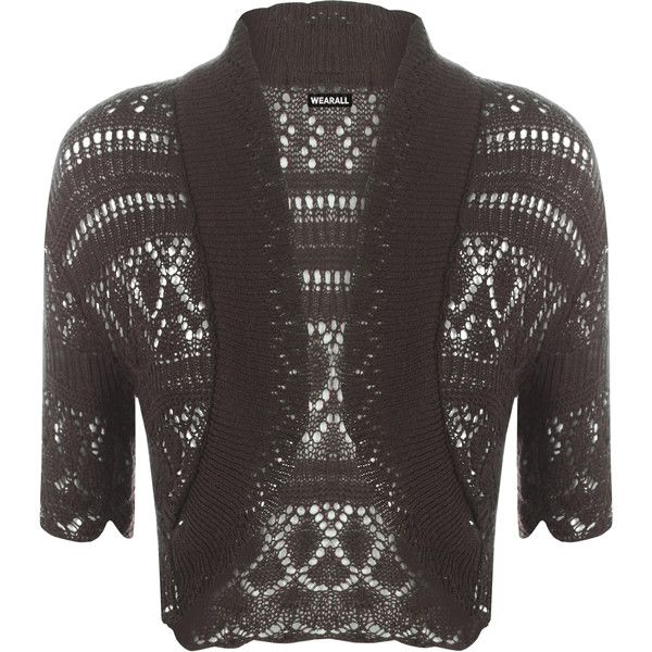 Estella Crochet Knitted Cardigan | Short sleeve bolero, Plus