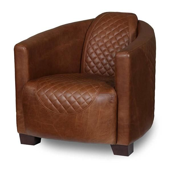 Triumph Cerato Brown Leather Armchair For Living Room