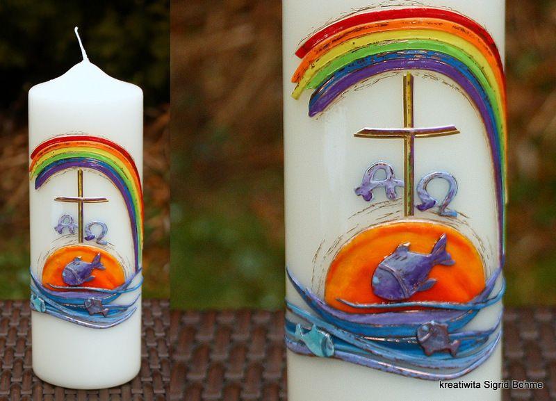Taufkerze von Kreatiwita - Kerzenkunst auf DaWanda.com