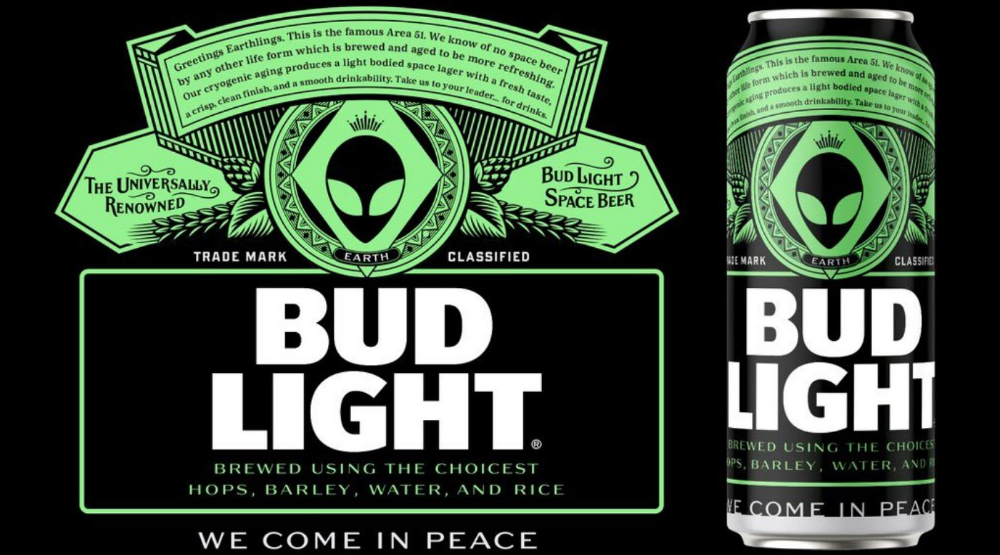 Bud Light Releases Special Edition Area 51 Cans Bud Light Free Beer Beer