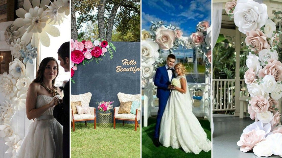60+ How To Use Giant Paper Flowers At Your Wedding #giantpaperflowers