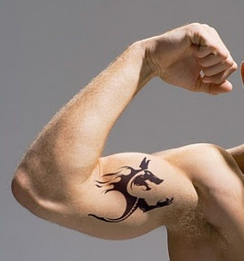 Beautiful bicep tattoos henna mehndi designs pinterest for Small bicep tattoos