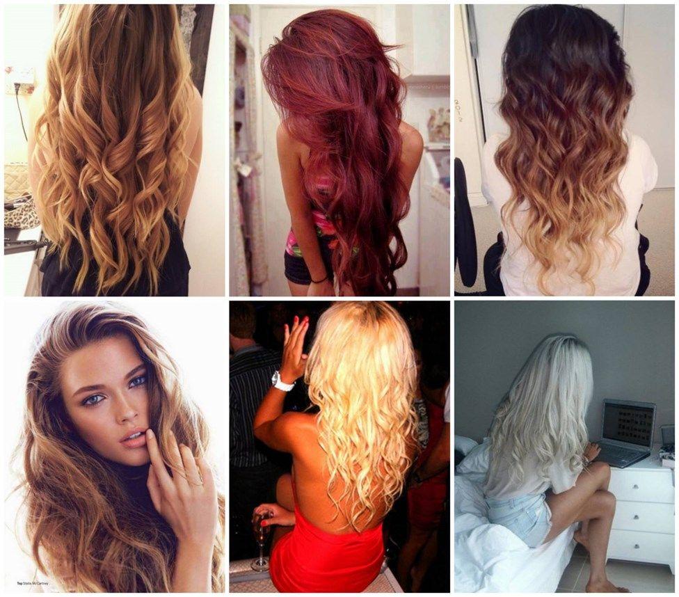 Långt hår..