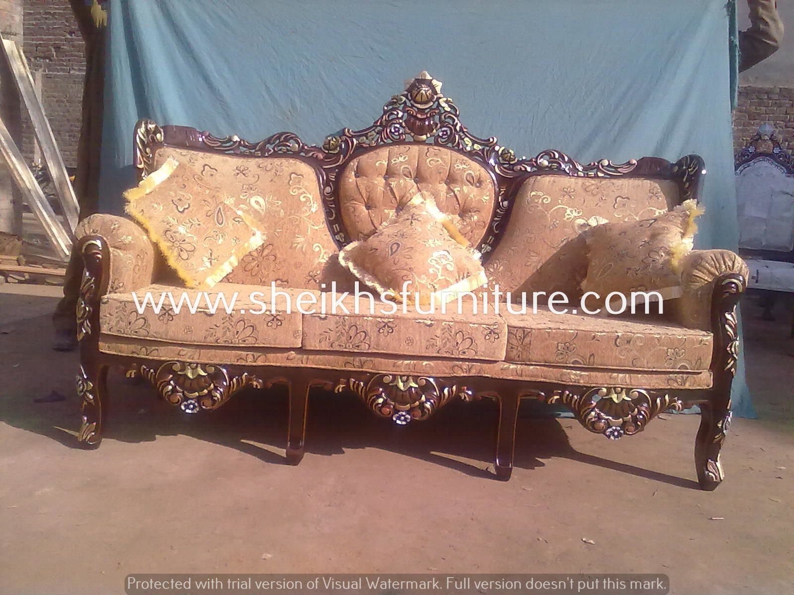This is our solid classic rosewood sofa set This sofa set is made