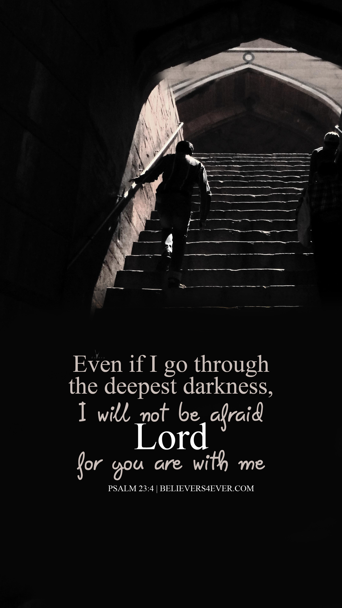 The deepest darkness Phone wallpaper quotes, Psalms