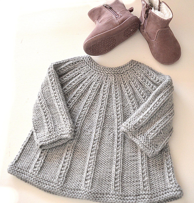 Seamless Top Down Cardigan plus Onesie - P094 | 12 months, Knitting ...