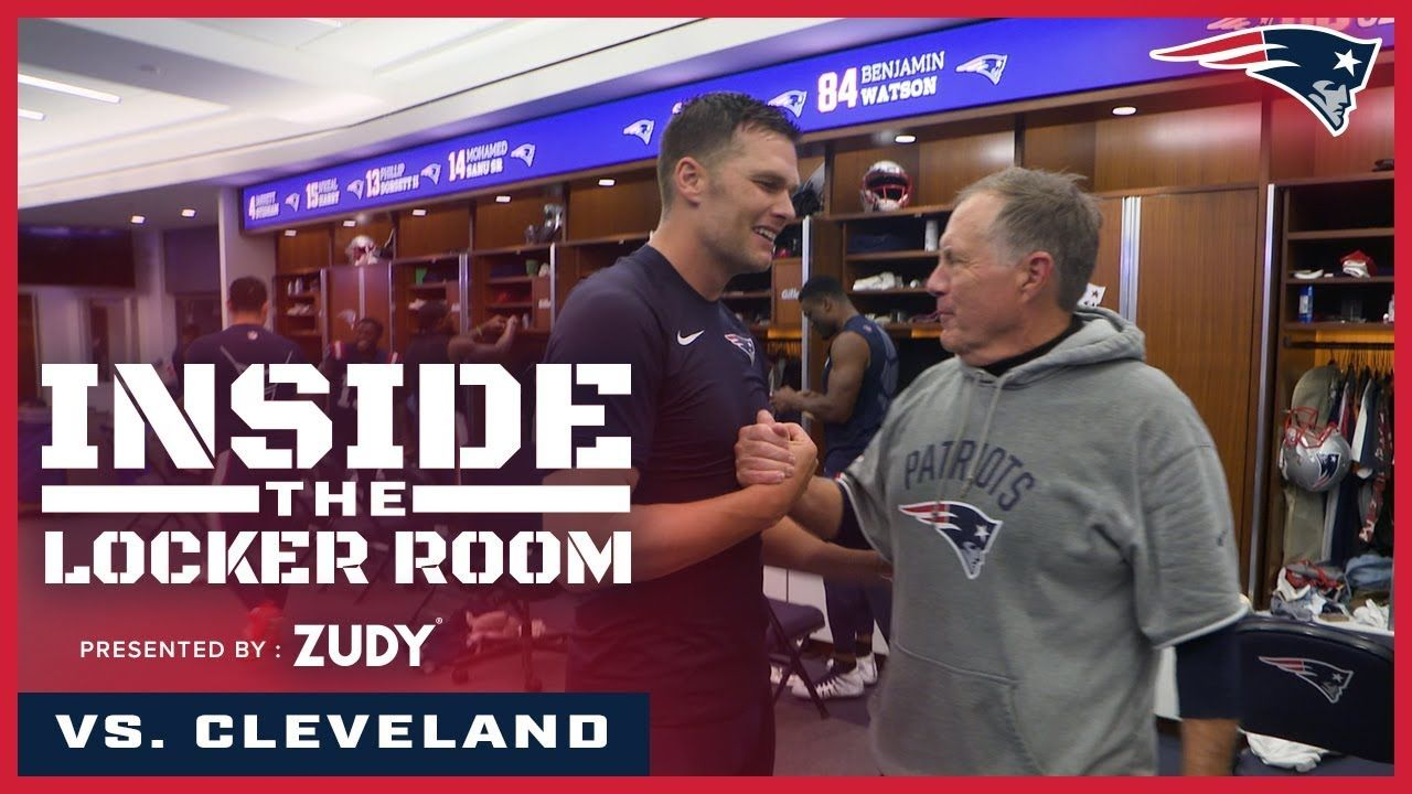 Patriots Celebrate Win Over The Browns Inside The Locker Room Locker Room Lockers Patriots