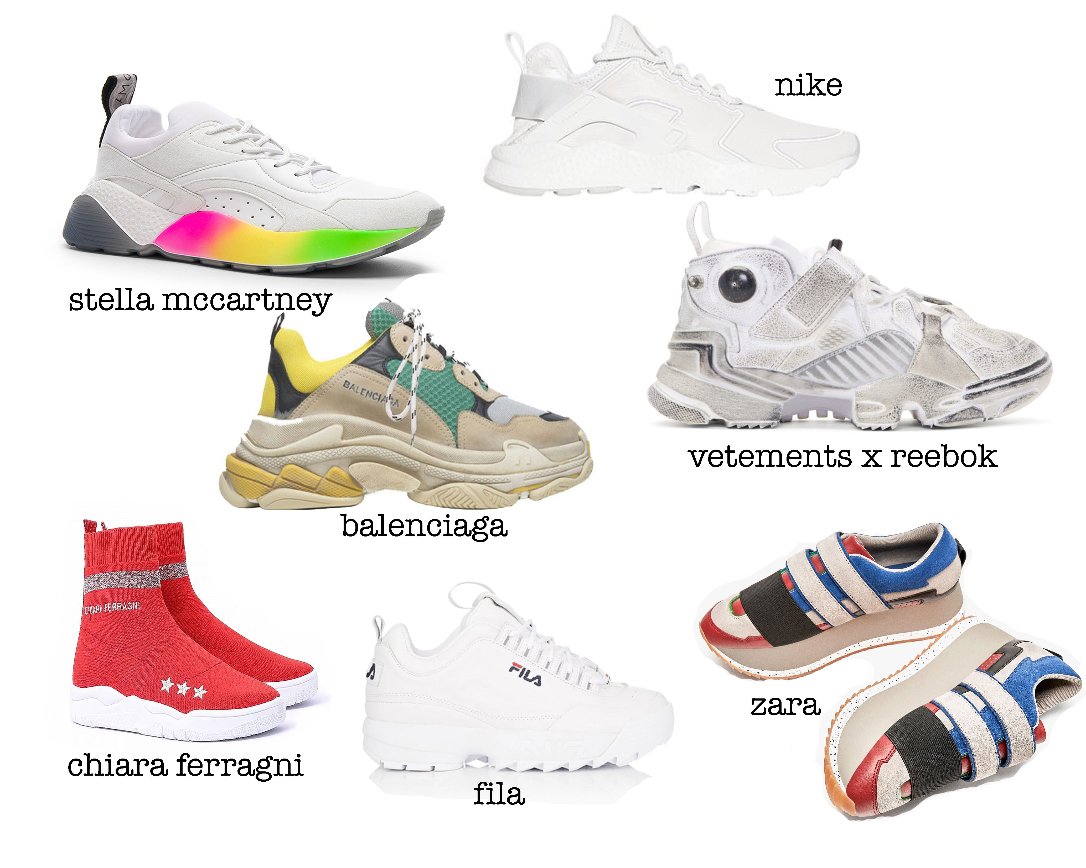 newest 9c44c b7557 From Balenciaga, Stella McCartney to Adidas and fast fashion king - Zara,  sneakers are