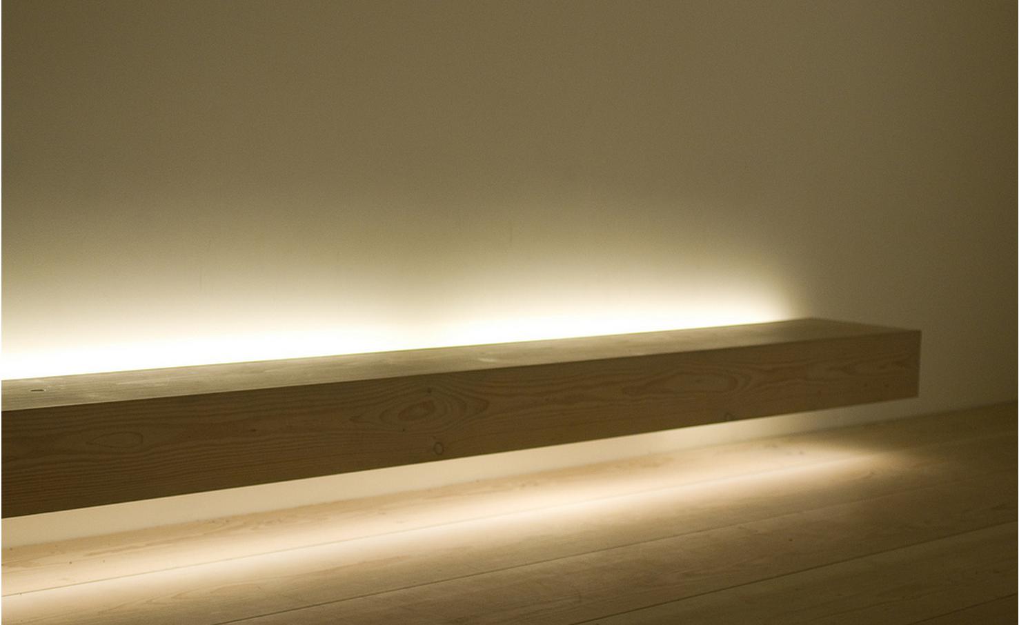 Indirect lighting in floating bench john pawson design for John pawson lighting