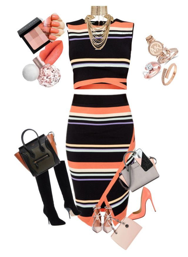 """""""Untitled #206"""" by kim-smith-i on Polyvore featuring Ted Baker, Christian Louboutin, Jimmy Choo, Valentino, Rosantica, Michael Kors, BCBGeneration, Bobbi Brown Cosmetics, BaubleBar and women's clothing"""