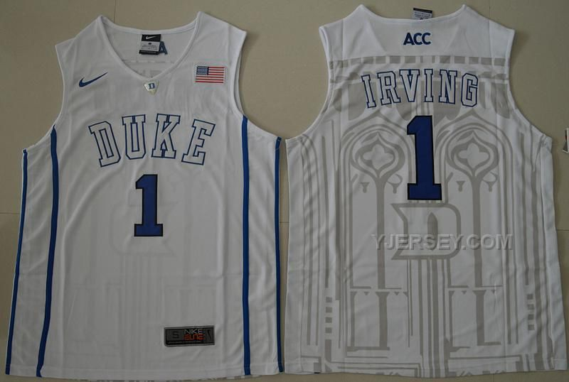 215c37d8eb7a ... usa duke blue devils 1 kyrie irving jersey black white blue 1 jabari  parker college jerseys