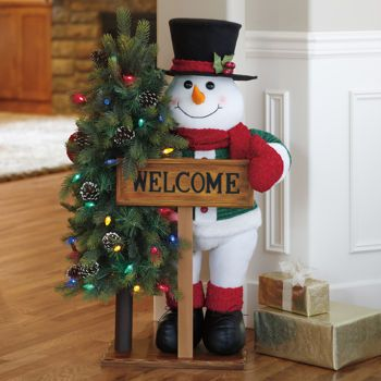 40 fabric snowman greeter with led lights 8499 at costco christmas projects christmas