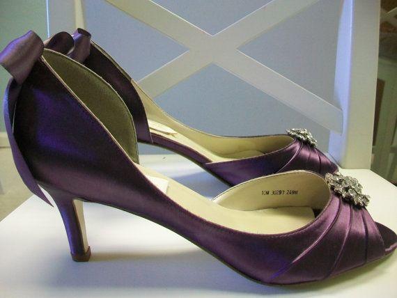 Purple Aubergine Wedding Shoes Wedding Bridal Bride By Parisxox 18400